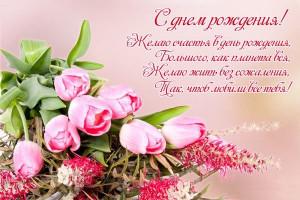 Желаю счастья в день рождения, Большого, как планета вся, Желаю жить без сожаления, Так, чтоб любили все тебя!